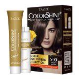 Tazol cosmética ColorShine tinte y permanente de pelo (marrón claro) (50 ml + 50 ml)