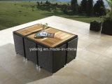 Алюминиевая рамка с комплектом Teak при мебель отдыха стула напольная обедая комплект (YT233)