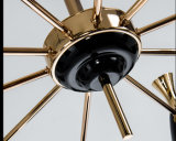 Iluminación negra moderna de la lámpara de la lámpara pendiente de la sala de estar en 10-Lights