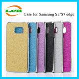 Samsung S7edgeのためのフラッシュ粉の裏表紙のケース