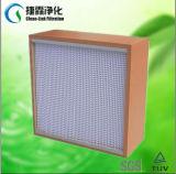 Woodern/de aluminio/galvanizó el filtro del plisado HEPA del marco