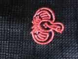 Cravate noire de polyester avec le logo d'oiseau pour le marché de Sweeden