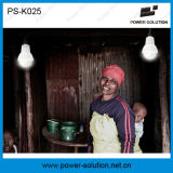 système du d'éclairage 10W solaire avec 3 ampoules, MP3 radio fm et ventilateur de plafond
