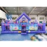 Kommerzieller aufblasbarer Schloss-Sprung-Prahler/aufblasbare Luft-Prahler-Trampoline mit Plättchen