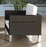O sofá ao ar livre de alumínio do jardim da mobília do Rattan da qualidade superior ajustou-se com pés de Knockdonw (YT279)