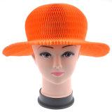 El sombrero de la manera de las señoras modela los sombreros reciclados plegables del sombrero del llano de la paja de la playa