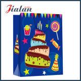 Bolso de encargo del chocolate del papel de la insignia de la laminación del día de fiesta del diseño mate del cumpleaños