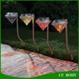 Lampe solaire extérieure d'horizontal de pelouse de jardin de la lumière RVB Diamend de voie de chemin de l'acier inoxydable DEL