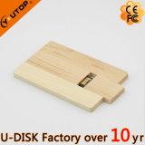 Émerillon fait sur commande de logo/carte en bois tournante USB Pendrive (YT-3132L5)