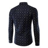 Los Mens adelgazan las camisas de alineada ocasional regulares aptas de la manera del frente del botón (A436)