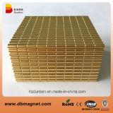 Ímã magnético do Neodymium dourado da barra