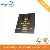 Verpakkende Zak van het Document van de Druk van het handvat de Gouden (QY150012)