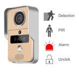 Sonnette visuelle imperméable à l'eau et intelligente de vision nocturne d'interphone de WiFi d'IP avec le blocage et la carte électroniques d'IDENTIFICATION RF