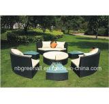 Insiemi di vimini del sofà per esterno come la base/sofà