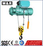 Élévateur électrique de vente chaud de fil avec le double crochet
