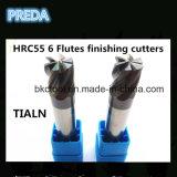 Máquina da alta qualidade das ferramentas dos moinhos de extremidade das flautas da precisão 6