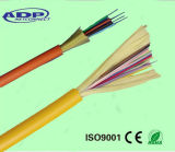 Câble de fibre optique d'intérieur à un noyau du filé 12/24c de fil de cavalier (GJFJV)