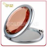 Зеркало металла выдвиженческого подарка глянцеватое кристаллический складывая карманное