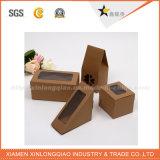 Коробка Brown Kraft изготовленный на заказ размера Eco-Friendly бумажная с окном PVC