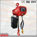 Grue à chaînes électrique stationnaire à crochet de 5 tonnes
