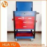 550のLbsの5 Lock DrawersのSheet Metal Red及びBlueの重義務Rolling Tool Cabinet