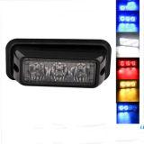 3W Selbst-LED warnendes bernsteinfarbiges Röhrenblitz-Licht-super helles Röhrenblitz-Licht-Auto