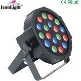 Großhandels18x3w RGB preiswerter dünner LED NENNWERT für Disco
