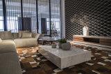 リネンファブリック居間のソファーは大理石のコーヒーテーブル(LST-001)とセットした