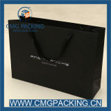 Garment Shopping를 위한 주문 Printing 250g Black Paper Bag