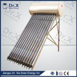 Calefator de água solar passivo da câmara de ar de vácuo de 100 dólares