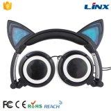 Nuova cuffia d'ardore di vendita calda dell'orecchio di gatto di disegno di brevetto per il telefono mobile