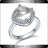 Anillos de bodas grandes del regalo de la piedra preciosa de la plata esterlina de la venta al por mayor 925