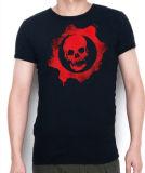 عادة قطن شامة طباعة رماديّ فصل صيف بيع بالجملة رجال [ت] قميص