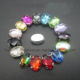 De imitatie Klauw van het Bergkristal van de Fabriek van Juwelen naait op Bergkristallen (sW-Navette 10*14mm)