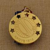 2016年の工場供給によってカスタマイズされる金属の金のラグビーメダル