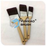 Balai angulaire de ceinture avec les pinceaux en bois de peinture de traitement