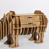 Montare il rinoceronte di legno decorativo del giocattolo che fornisce di cassetti