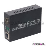 155mまたは1.25g光学トランシーバのための10/100/1000m SFP媒体のコンバーター