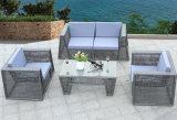 4 Stücke im Freiensofa gesetzte Pation Sofa-Rattan-Möbel-