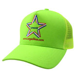 Custom 5 Chapéu de malha de painel Boné de camião Snapback com bordado