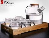 タケふたが付いている1.8L高品質のホウケイ酸塩の冷水の水差しまたは耐熱性明確なガラス水差しまたはガラス冷水の水差しの鍋の水差し