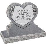 Monumento di disegno del cuore del doppio del granito G633 per il cimitero