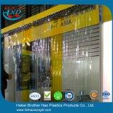 Flexible Natur-transparenter doppelter gewellter Vinylstreifen-Vorhang