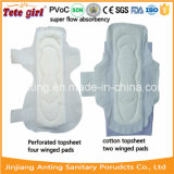 綿の柔らかいNonwoven表面の生理用ナプキン、Pads From Anting女性