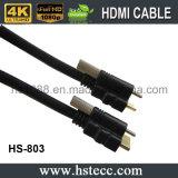 moulage de PVC 4k de 30m verrouillant le câble de HDMI