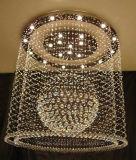 Lâmpada de cristal luxuosa do teto do quadrado do projeto do hotel com CCC, UL