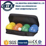 Logotipo personalizado 90mm bola de la resina de Bochas con bolsa de transporte