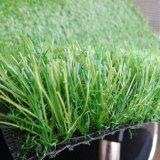 자연적인 잔디 처럼 좋은 3개의 색깔 진한 녹색 합성 뗏장