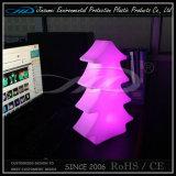 Lâmpada de tabela do diodo emissor de luz da árvore de Natal feita do material poli do etileno