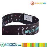 HUAYUAN aseguran alto el wristband tejido color-lleno WP-15 para la gerencia del acontecimiento